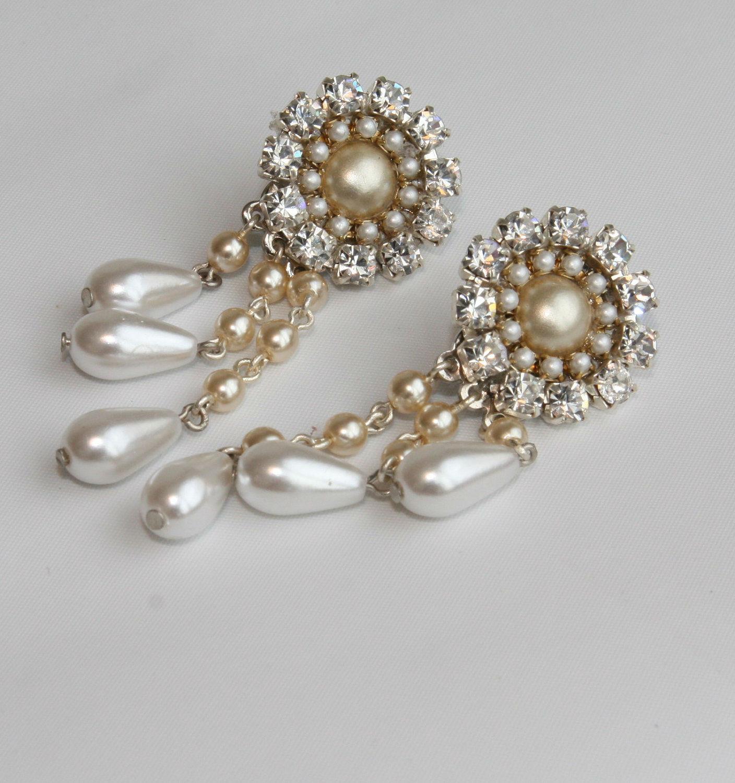 Chandelier earrings laury efrat davidsohn bridal arubaitofo Choice Image