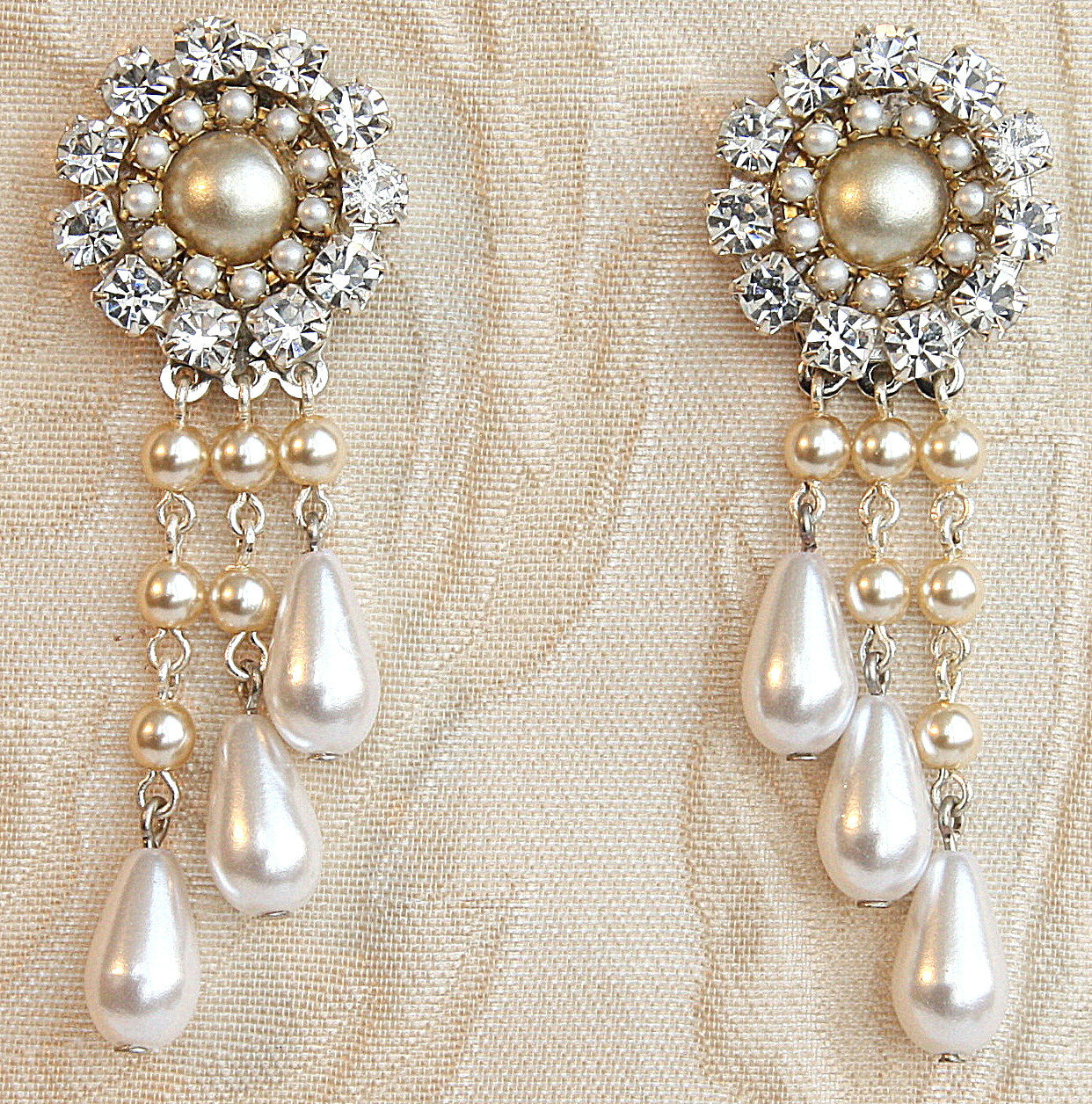 Chandelier earrings laury efrat davidsohn bridal victorian chandelier earrings stunning wedding earrings with pearl and rhinestones bridal victorian chandelier earrings arubaitofo Gallery