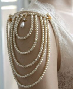 Epaulettes,Shoulder Epaulettes,Shoulders and pearls - Billie