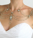 Shoulder piece jewelery,Necklace on Shoulders Pearls Crystals - Ella