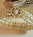 Wedding Pearl Bracelet,Bridal Statement,Swarovski,gold