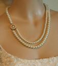 Wedding Vintage,Pearls Necklace,Bridal Victorian pearls- Marie