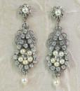 Chandelier Earrings Vintage style, Rhinestone earrings,deco - Lia
