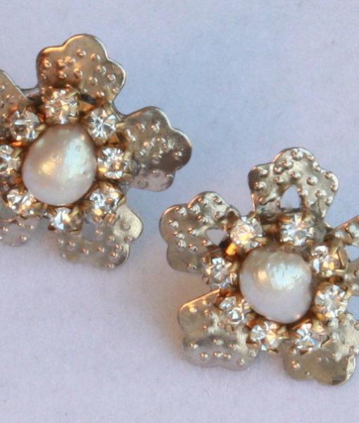 Real Pearls Rhinestone Earrings,Star Silver Earrings,Shinny - Birkin