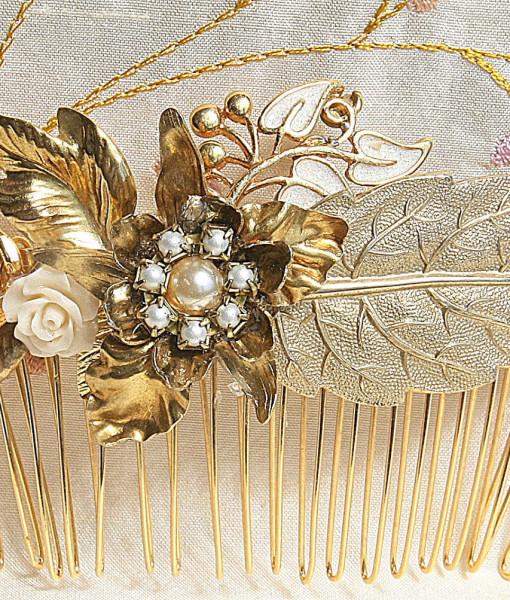 hair comb,wedding vintage- mae