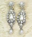 Wedding Chandelier Earrings,Luxurious,vintage Bridal earrings- Lila