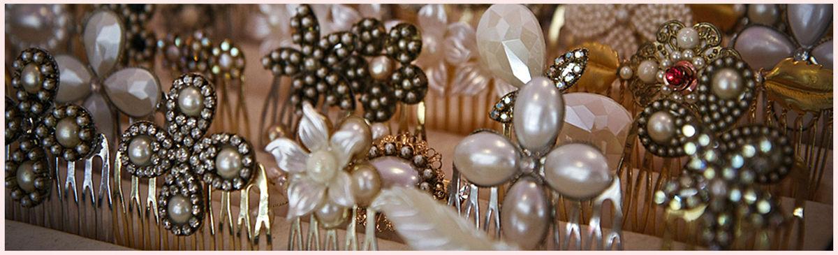 Bridal Haircomb,Wedding Pearl Head